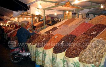 Een traditionele Marokkaanse markt
