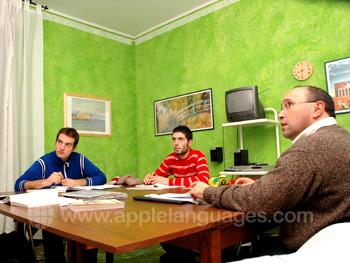 Italiaanse les op onze school in Bologna