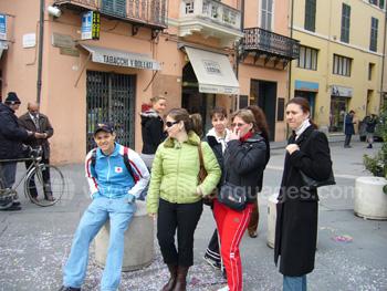 Studenten tijdens excursie