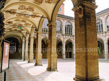 Chiostro Archiginnasio in Bologna
