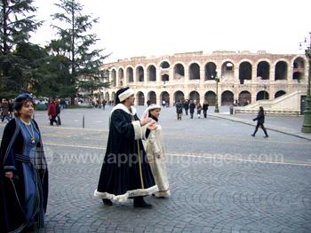 Middeleeuwse tijden in het nabijgelegen Verona
