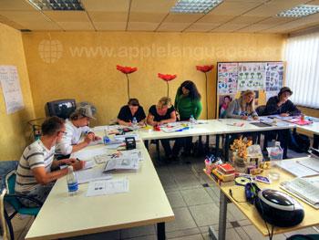 Spaanse les op onze school in Puerto de la Cruz