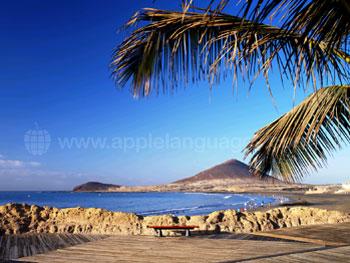 Het prachtige uitzicht van El Medano