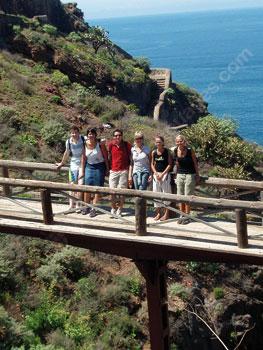 Studenten die Tenerife ontdekken