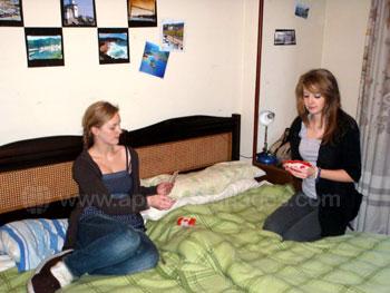 Studenten in de residence accommodatie