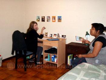 Studenten in accommodatie
