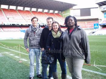 Bezoekje aan voetbal stadion