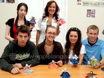 Russische handwerk les op onze school