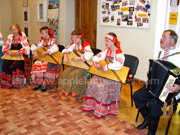 Traditionele Russische volksmuziek weergave
