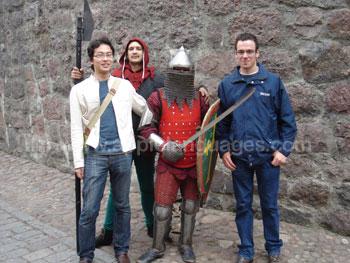 Studenten die Middeleeuwse Russen ontmoeten