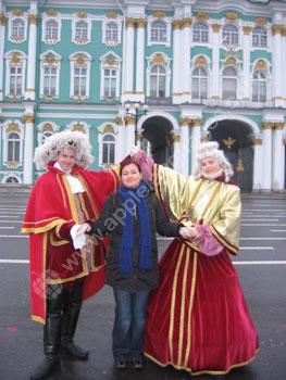 Student met historisch Russische personages