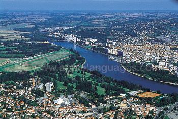 Luchtfoto van Vichy