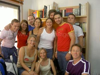 Studenten tijdens de pauze