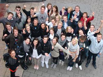 Studenten klaar voor de excursie