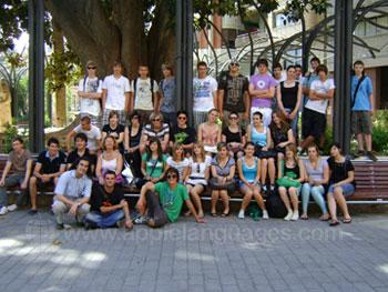 Studenten op excursie