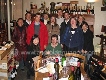 Excursie in wijnkelder