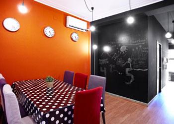 Kamer in de residentie van de universiteir