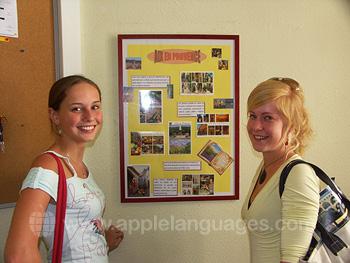 Studenten in de school