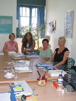 Griekse les op onze school in Athene