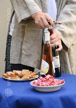 De wijn openen