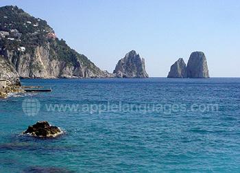 De kustlijn bij Sorrento