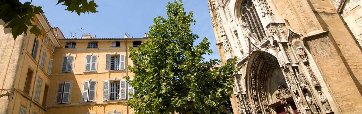 Kathedraal in Aix-en-Provence, Frankrijk