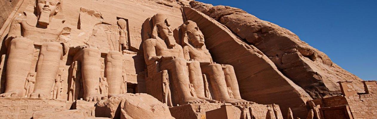 De Arabische Abu Simbel Tempels in Egypte