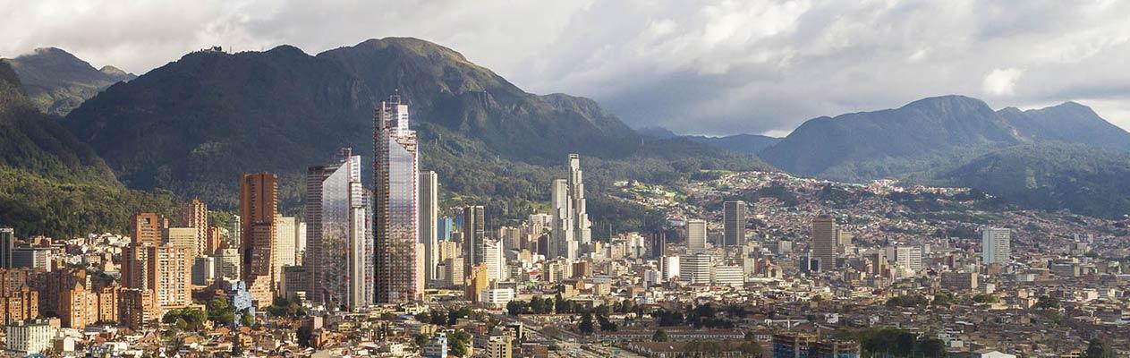 Nieuwe skyline van Bogotá, Colombia