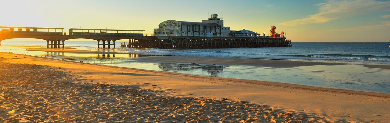 Bournemouth strand en pier