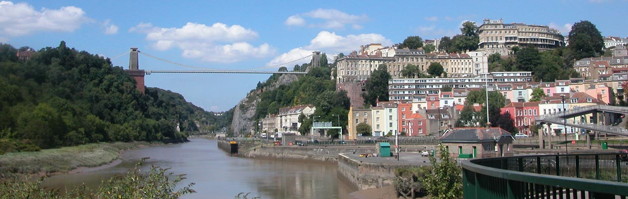 De Clifton Suspension Bridge tussen Bristol en Clifton