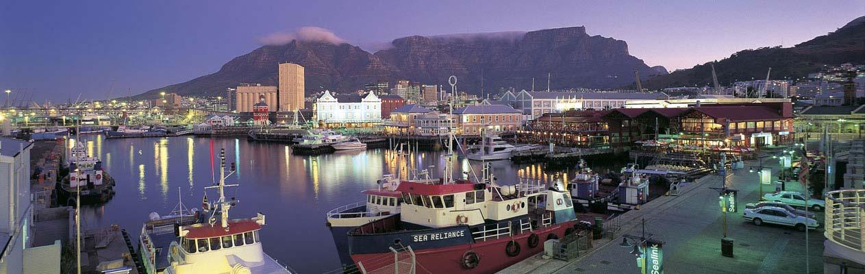 Kaapstad en Tafelberg tijdens Avondschemering