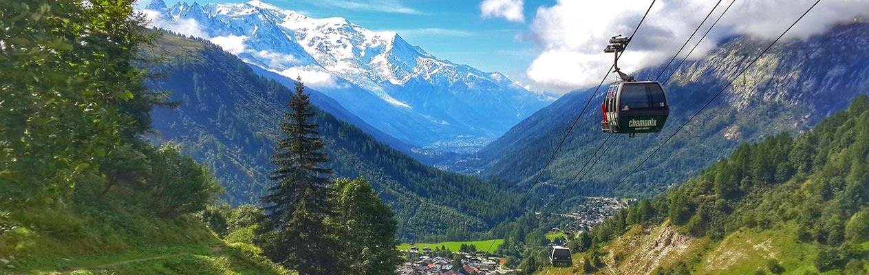 Kabelbaan vanaf Chamonix, France