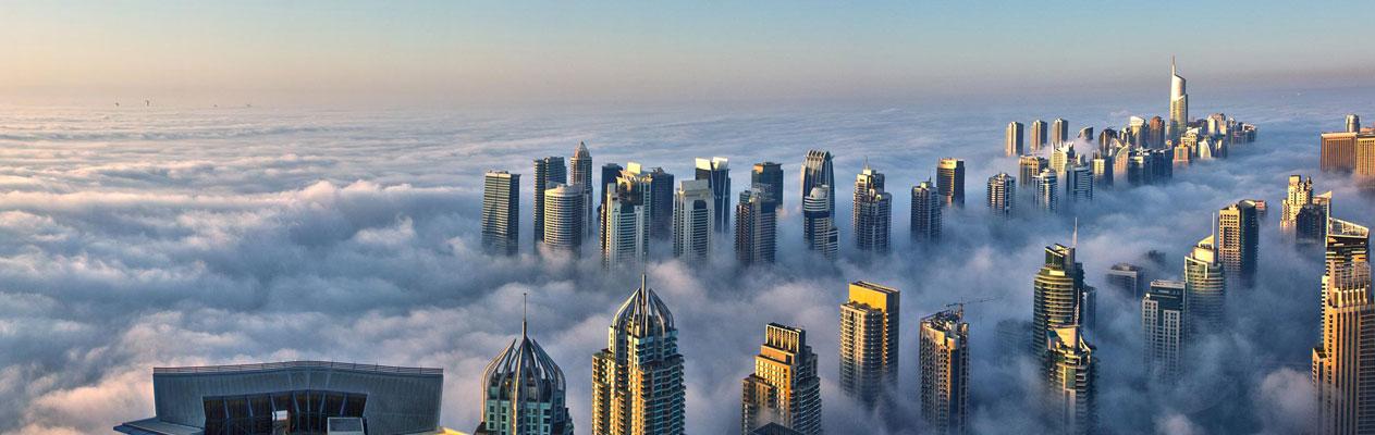 Dubai, een stad in de wolken