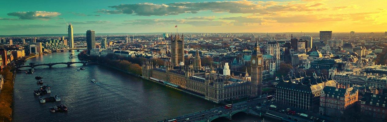 Uitzicht over Londen, Engeland