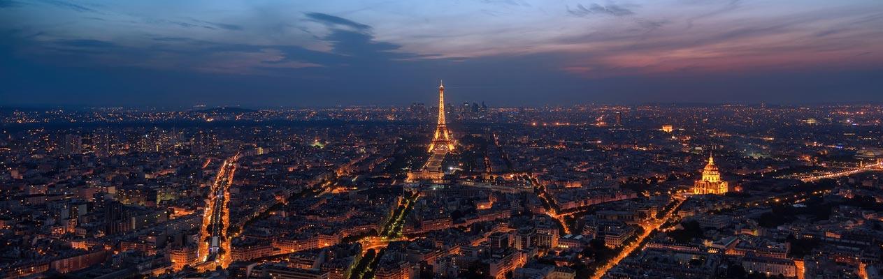 Parijs, Frankrijk bij nacht