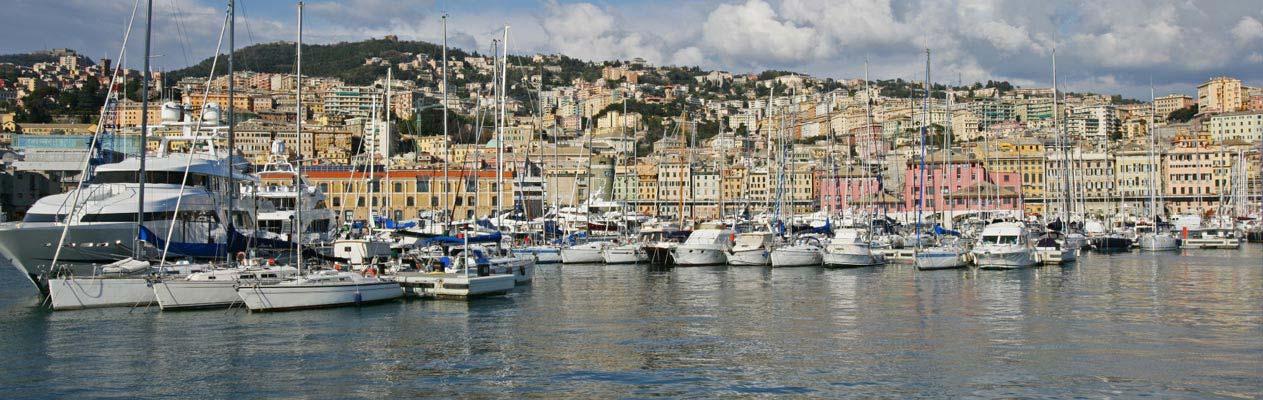 Havenstad Genoa, Italië