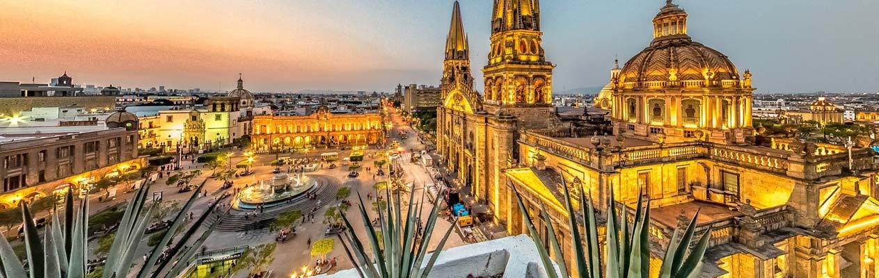 Het stadscentrum van Guadalajara, Jalisco, Mexico