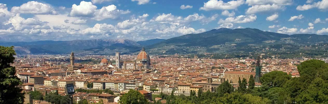 Uitzicht over Florence, Italië