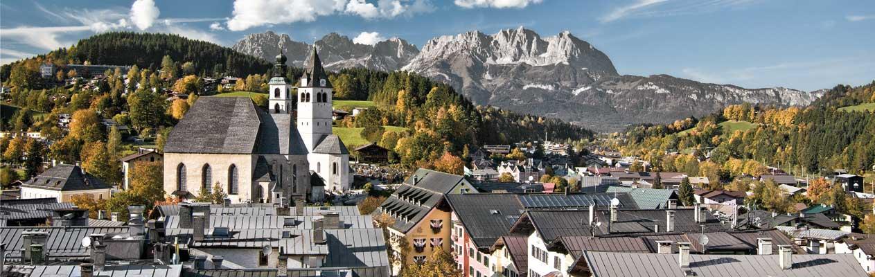 Kitzbühel, Oostenrijk in de zomer