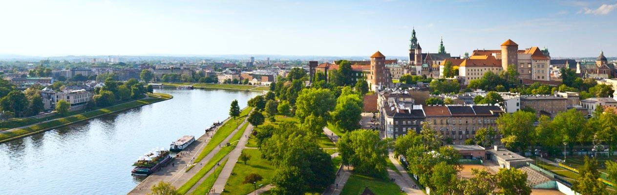 De stad Krakau, Polen