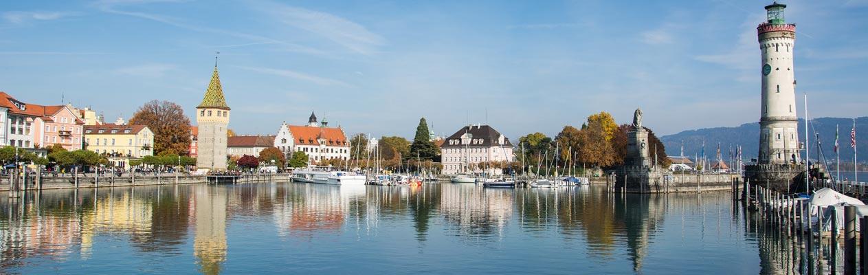 Baai en vuurtoren van Lindau, Bodenmeer