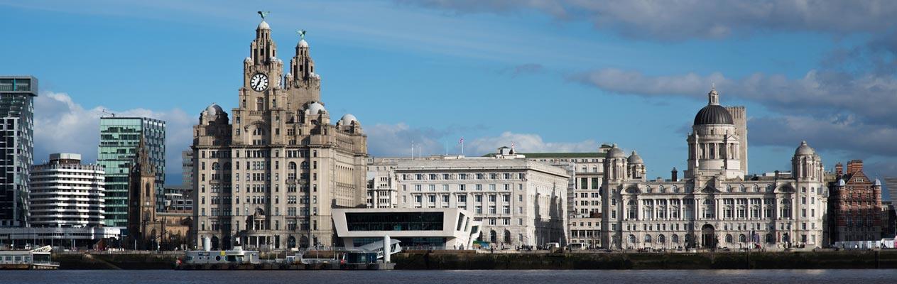 Liverpool scheepswerf en stad, VK