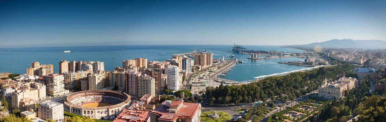 De stad Malaga, Andalusië, Spanje