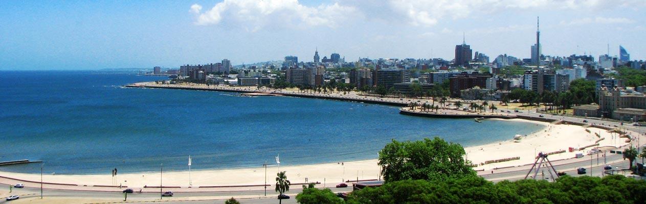 Montevideo stad en strand