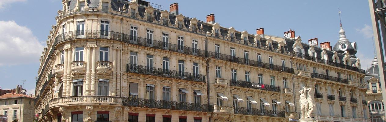 Gebouw in Montpellier, Frankrijk