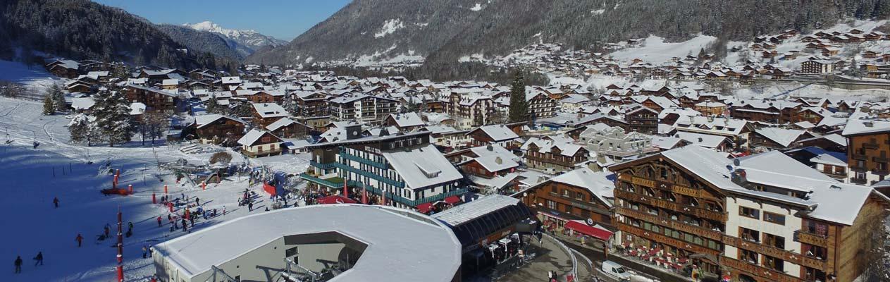 De Alpenstad Morzine, Frankrijk