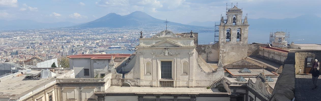 Uitzicht op de Vesuvius vanaf Kasteel Sant'Elmo, Napels