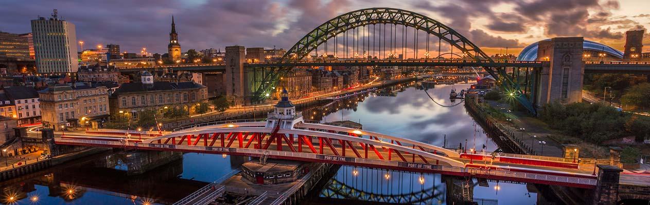 Rivier Tyne, Newcastle, Engeland