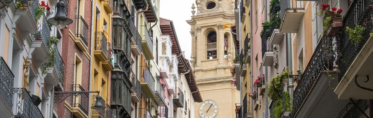 Route naar Santiago, Pamplona, Spanje