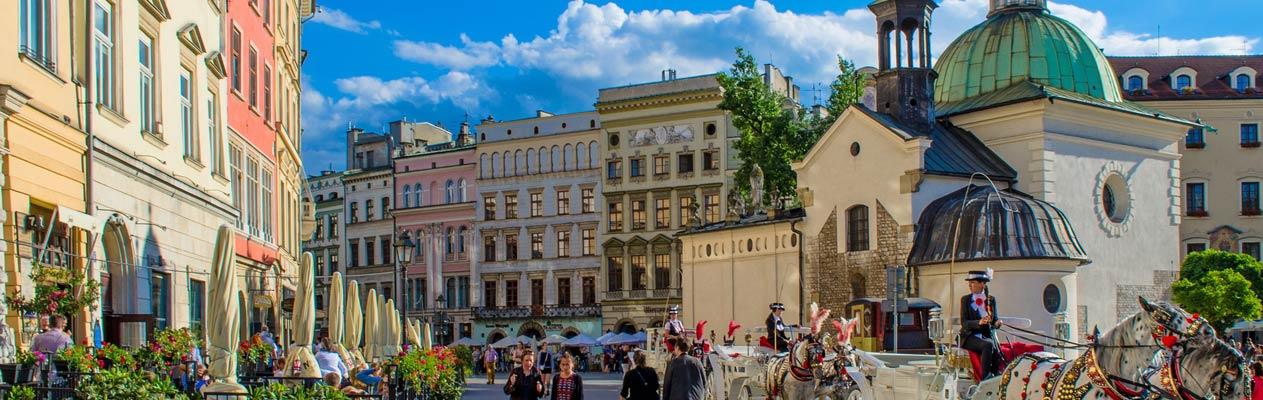 Binnenstad van Krakau, Polen